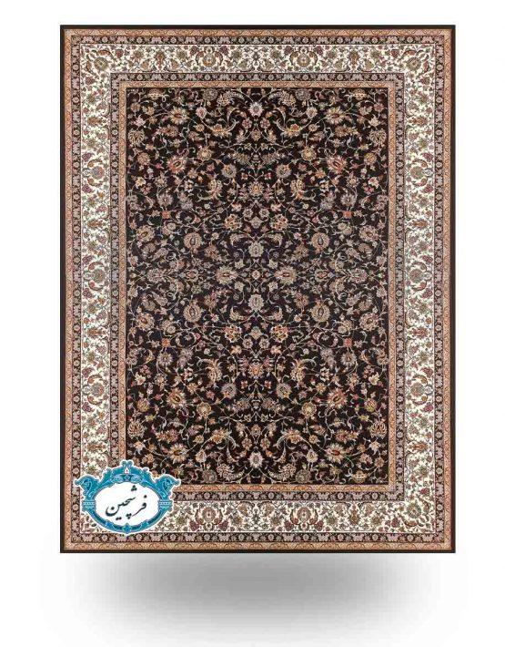 فرش ماشینی -طرح گلریز 700 شانه         سرمه ای