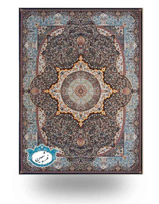 فرش ماشینی -طرح معجزه 700 شانه         سرمه ای