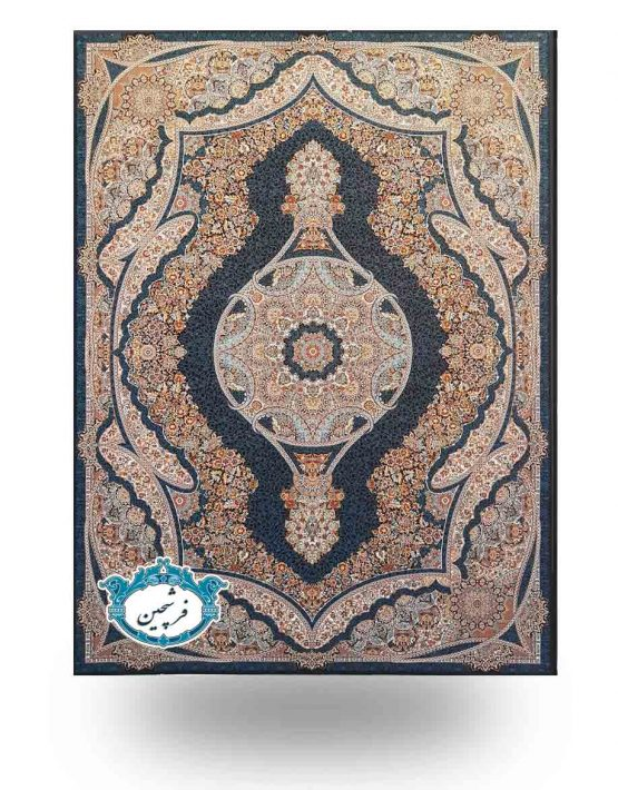 فرش ماشینی-طرح نازنین 700 شانه          سرمه ای