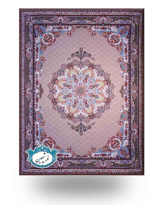 فرش ماشینی-طرح تندیس1000شانه         گردویی