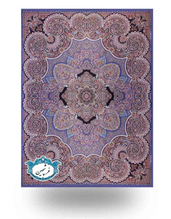 فرش ماشینی-طرح دنیز1000شانه          آبی