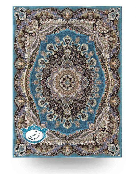 فرش ماشینی-طرح ارغوان1000شانه          فیروزه ای