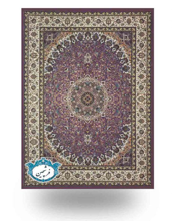 فرش ماشینی-طرح نایین1200شانه              یاسی