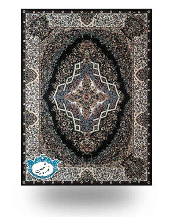 فرش ماشینی-طرح آیسان1200 شانه                       سرمه ای