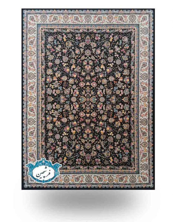 فرش ماشینی-طرح ذنبق1200 شانه                          سرمه ای