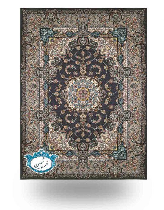 فرش ماشینی-طرح سامان1200 شانه                          سرمه ای