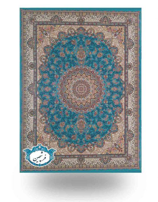 فرش ماشینی-طرح غزال1200 شانه                          فیروزه ای