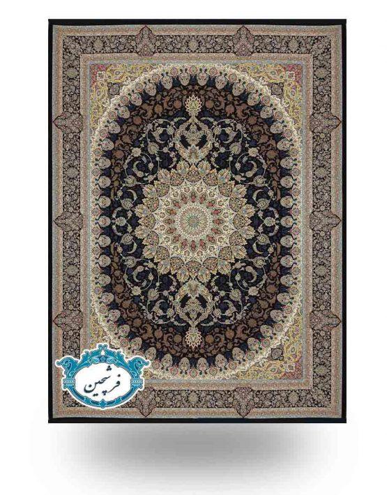 فرش برجسته - طرح اعیان 1200شانه                 سرمه ای